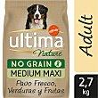 Pienso de , verduras y frutas para perro adulto Ultima Nature No Grain Medium Maxi 2,7 kg Pavo fresco