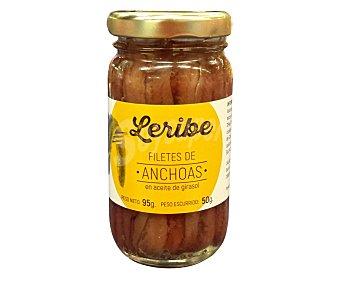 Leribe Filetes de anchoa en aceite de girasol 50 g