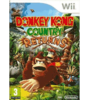 Nintendo Juego donkey kong country returns wii