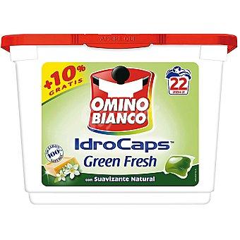 Omino Bianco Detergente máquina líquido Green Fresh con suavizante natural envase 22 capsulas Envase 22 capsulas