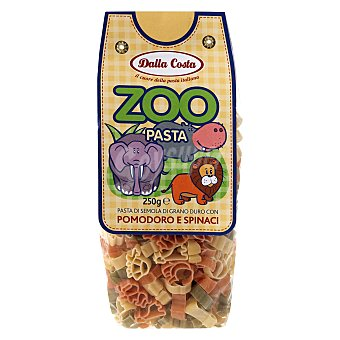 Dalla Costa Pasta de animales de tomate y espinacas 250 G 250 g