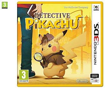 Nintendo Videojuego Detective Pikachu para Nintendo 3Ds. Género: aventura gráfica. pegi: +3 Detective Pikachu 3Ds