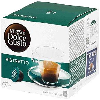 Dolce Gusto Nescafé Café Ristretto intensidad 8 Caja 16 cápsulas