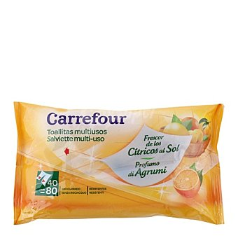 Carrefour Toallitas Multiusos Cítricos 40 ud