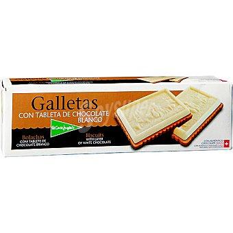 El Corte Inglés Galletas con tableta de chocolate blanco Estuche 125 g