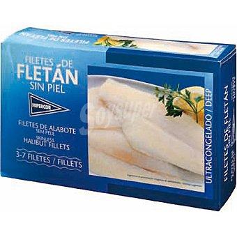 Hipercor Filetes de fletán sin piel Estuche 400 g neto escurrido