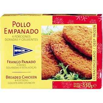 HIPERCOR pollo empanado estuche 330 g 4 unidades
