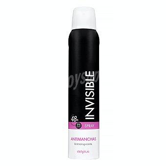 Deliplus Desodorante spray mujer antimanchas invisible (blanco) Bote 200 ml