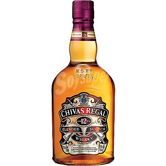 Chivas Regal Whisky escocés 12 años botella 1 l 1 l