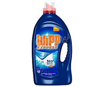 Wipp Express Detergente máquina líquido gel azul quitamanchas activo Botella 66 lavados