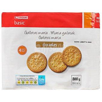 Eroski Basic Galleta dorada redonda Pack 4x200 g