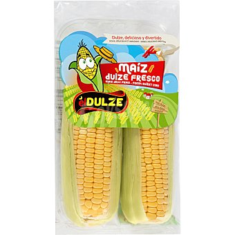 El Dulze Maíz dulce fresco mazorca bandeja 400 2 unidades