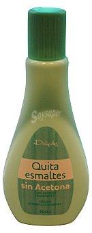 DELIPLUS Quitaesmalte sin acetona con agentes hidratantes Botella de 200 ml