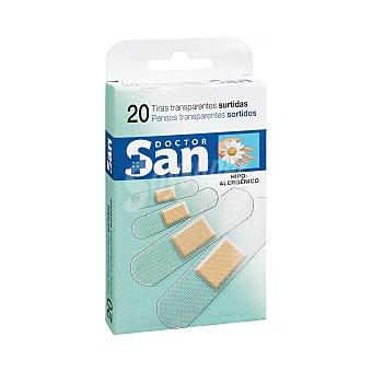 Doctor san Tiritas protectoras surtidas transparentes Caja de 20 unidades