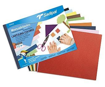 SADIPAL Bloc de Manualidades con Cartulinas de Diferentes Colores 1 Unidad