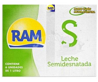 Ram Leche semidesnatada 6x1L
