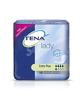 Tena Lady Compresa de incontinencia extra plus Paquete 16 unid
