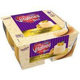 Danone Vitalinia Mousse frutos rojos Pack 4x55 g