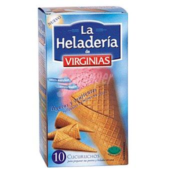Virginias Cucurucho heladeria Caja 10 uds 112 gr