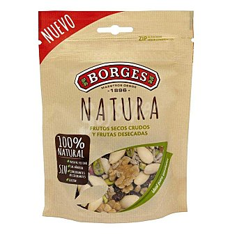 BORGES Natura Cóctel de frutos secos crudos y frutas desecadas 100% natural Bolsa 130 g