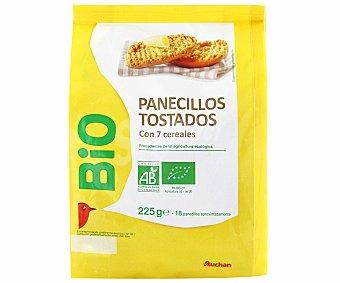 Auchan Panecillos tostados ecológicos con 7 cereales 225 gramos
