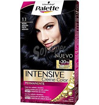 Palette Schwarzkopf Tinte negro azulado 1,1 Intense Color Cream 1 UNI