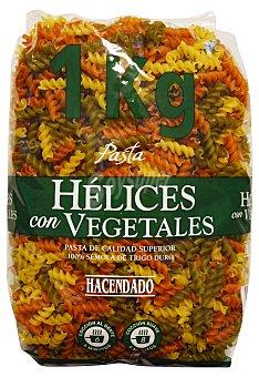 HACENDADO Helices pasta vegetal Paquete de 1 kg