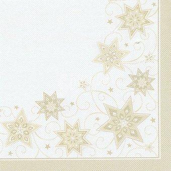 PAP STAR servilletas Just Stars color champán 40x40 cm  paquete 20 unidades
