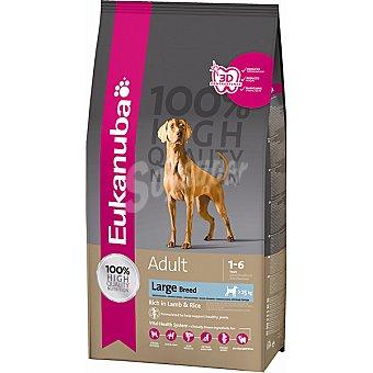 EUKANUBA ADULT LARGE BREED alimento completo para perro adulto de razas grandes y gigantes con cordero y arroz  bolsa 2,5 kg