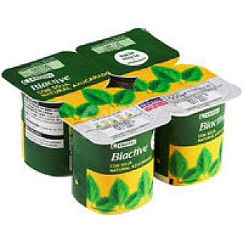 Eroski Biactive natural con soja Pack 4x125 g