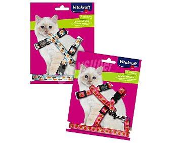 Vitakraft Arnés regulable y correa de nylon para gatos 1 ud