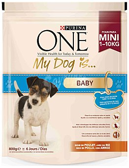 One Mini Pienso para Perro ONE MINI Perro Junior Pollo y Arroz 800g 800 gr
