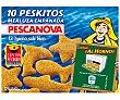 Peskitos Merluza empanada con forma de peces 400 gr Pescanova