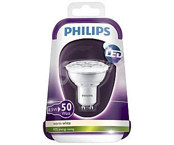 Philips Foco led dicroico de 4.5 W, con casquillo GU10 y luz cálida philips