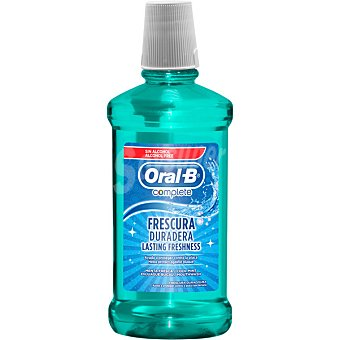 Oral-B Complete enjuague bucal Fresh & Clean para un aliento fresco y duradero sin alcohol  frasco 500 ml