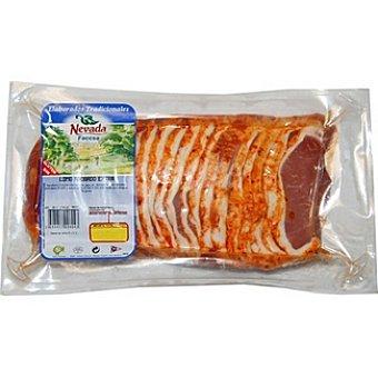 NEVADA Lomo adobado de cerdo en filetes al vacío peso aproximado Envase 1 kg