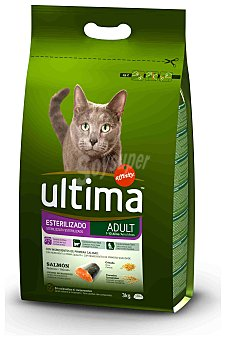 Ultima Affinity Comida para Gatos Esterilizados Ultima Salmón 3 kg