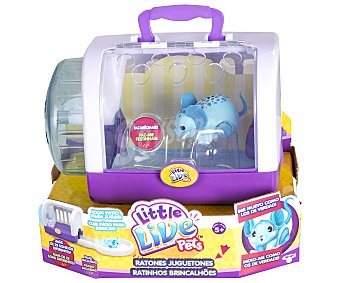 Little live pets Surtido Ratoncitos juguetones interactivos con casita-transportín 1 unidad