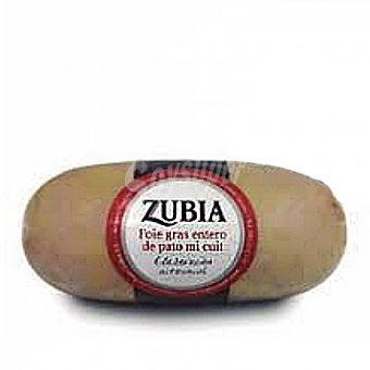 Zubia Foie gras entero de pato Mi-cuit Pates 200 G 200 g