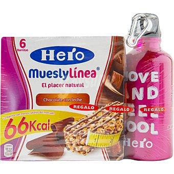 HERO MUESLY LINEA Barritas chocolate con leche pack de 2 paquetes 240 g Pack de 2 paquetes 240 g