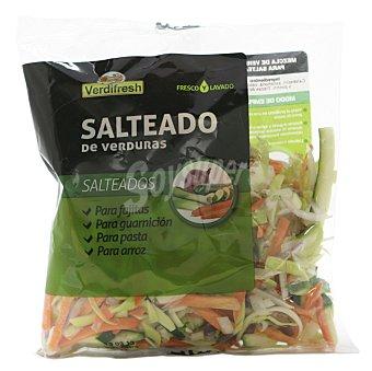 Verdifresh Verdura paisana mix de 4 verduras fresco calabacin,cebolla morada,puerro,zanahoria fresco (para microondas) Bolsa 300 g