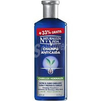 Naturaleza y Vida Champú anticaida normal Bote 300+100 ml