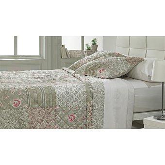 CASACTUAL MM 12Z174 Colcha bouti patchword en color topo para cama 135 cm