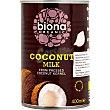 Leche de coco ecológica organic Envase 400 ml Biona