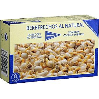 Hipercor Berberechos de Holanda al natural 40-50 piezas Lata 63 g neto escurrido