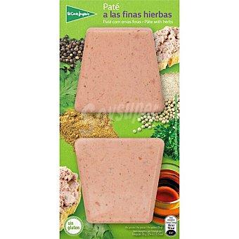 El Corte Inglés Paté a las finas hierbas sin gluten pack 2 x 50 G Envase 100 g