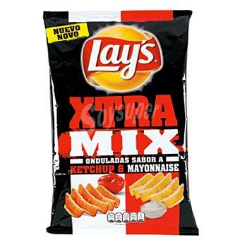 Lay's patatas fritas onduladas xtra mix ketchup & mayonesa bolsa 147GR
