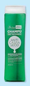 Deliplus Champu cabello anticaspa seco stylius (color verde) Botella 400 cc