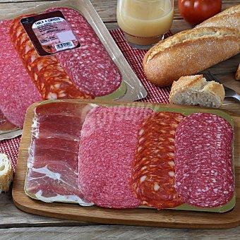 Juan Luna Tabla 4 embutidos curados loncheado: jamón, chorizo, salchichón y salami 100 G 100 g