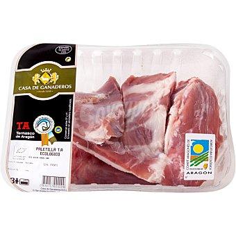 CASA GANADEROS Cordero ternasco de Aragón ecológico paletilla entera peso aproximado bandeja 1 kg Bandeja 1 kg